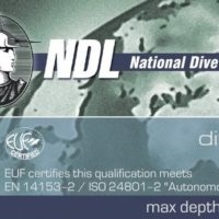 Сертификат PADI и сертификат NDL